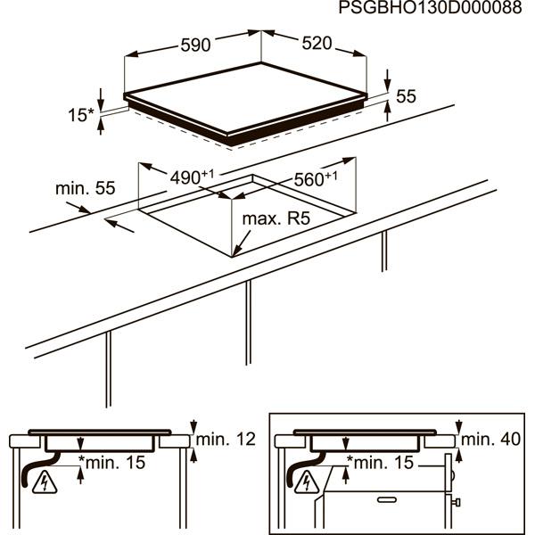 Встраиваемая индукционная панель Electrolux EHH96340FK