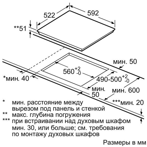 Встраиваемая индукционная панель Bosch PIA611B68J