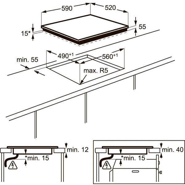 Встраиваемая индукционная панель Electrolux EHI96732FK