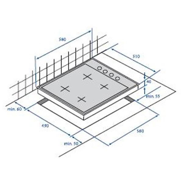 Встраив. газовая панель Beko HIZG 64125 AVR