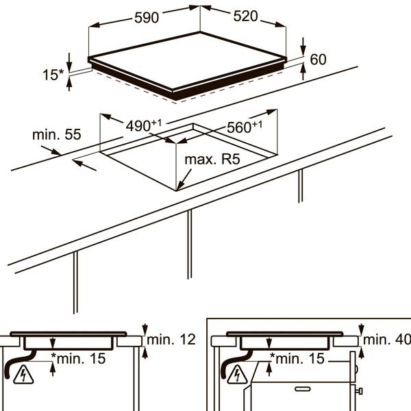 Встраиваемая индукционная панель Electrolux EHH96240IK