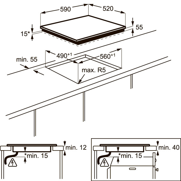 Встраиваемая индукционная панель Electrolux EHL96740FZ