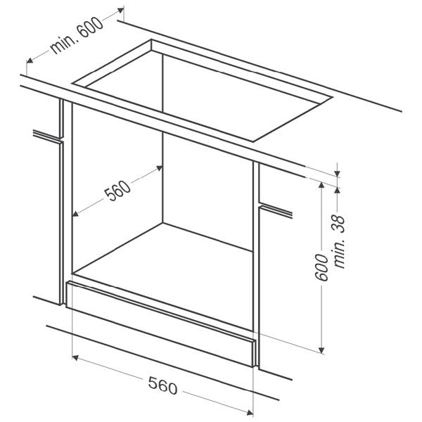 Электрический духовой шкаф Hansa BOEI64030077