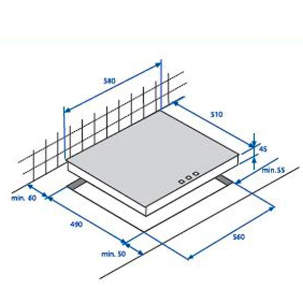 Встраиваемая индукционная панель Beko HII 64400 ATX