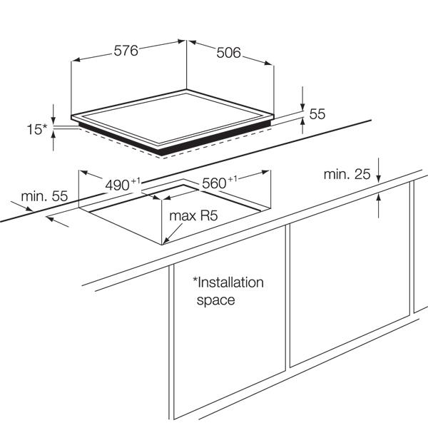 Встраиваемая индукционная панель AEG HK63420RXB