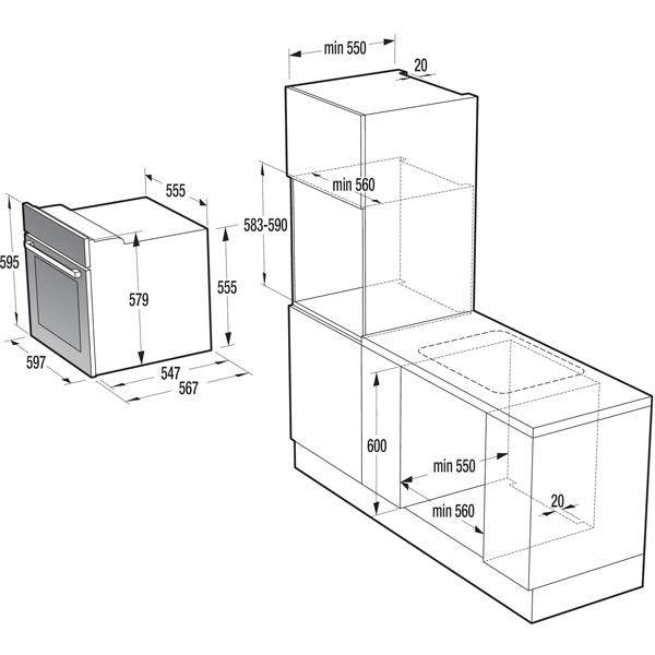 Электрический духовой шкаф Gorenje BO635E20WG-M
