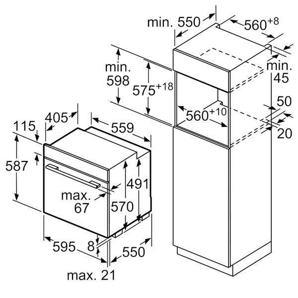 Встраиваемый электрический духовой шкаф Neff B25CR22N1