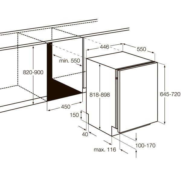 Встраиваемая посудомоечная машина 45 см AEG F96542VI0