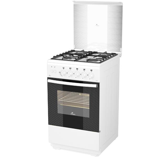 Газовая плита (50-55 см) Flama AG14211 White