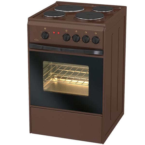 Электрическая плита (50-55 см) Flama АЕ14010 Brown
