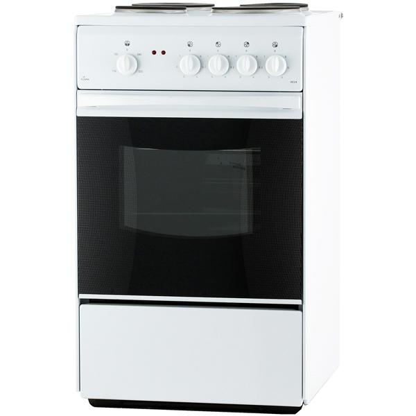 Электрическая плита (50-55 см) Flama АЕ14010 White