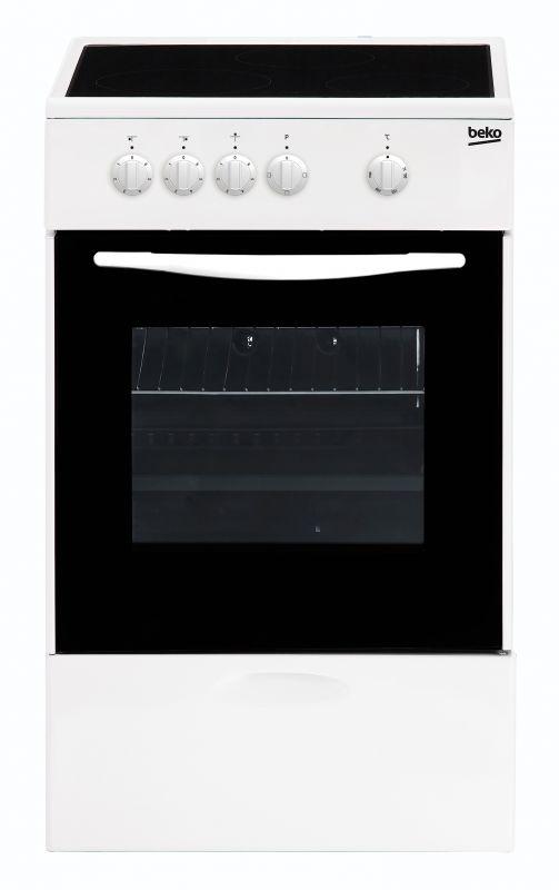 Плита Электрическая Beko FCS47002 белый стеклокерамика
