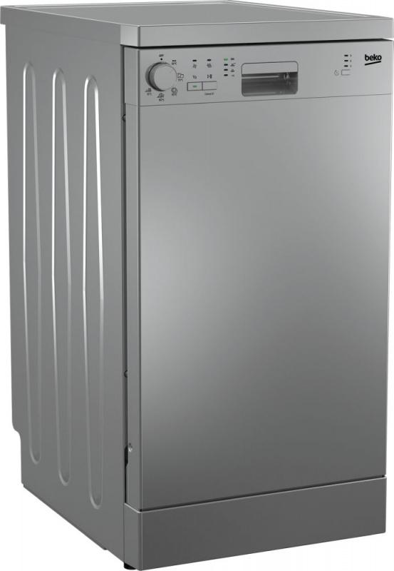 Посудомоечная машина Beko DFS05W13S серебристый (узкая)