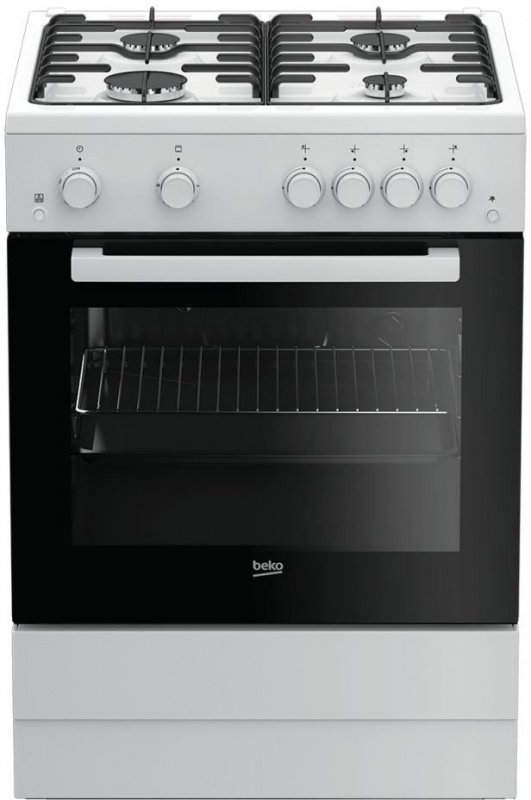 Плита Газовая Beko FSGT62110GW белый/черный реш.эмаль