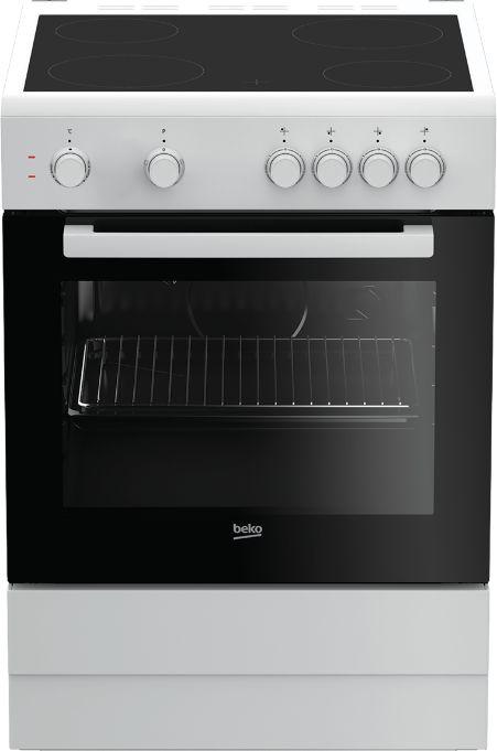 Плита Электрическая Beko FFSS67000W белый/черный стеклокерамика