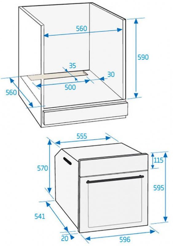 Духовой шкаф Газовый Beko BIGT21100X нержавеющая сталь