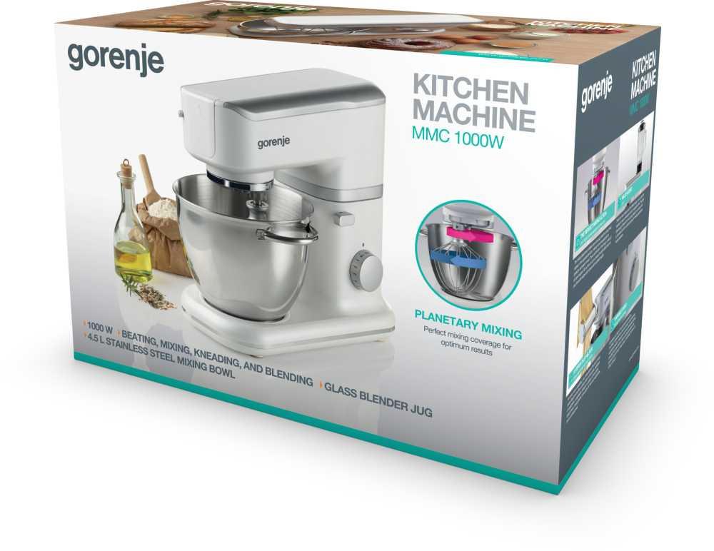 Кухонная машина Gorenje MMC1000W планетар.вращ. 1000Вт белый