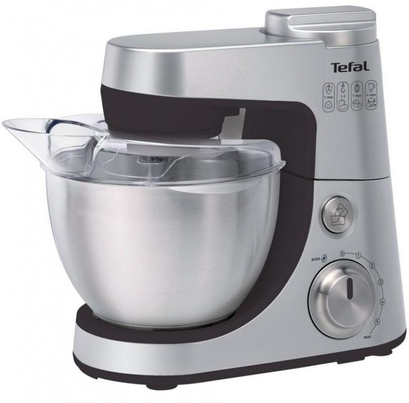 Кухонная машина Tefal QB408D38 планетар.вращ. 900Вт серебристый