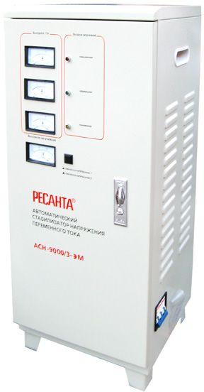 Стабилизатор напряжения Ресанта ACH-9000/3-ЭМ электромеханический трехфазный черный