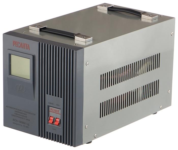 Стабилизатор напряжения Ресанта АСН-10000/1-Ц электронный однофазный серый