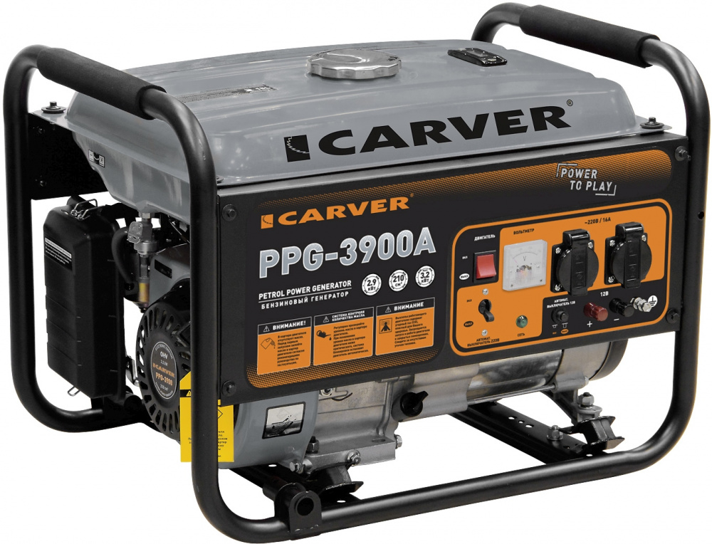 Генератор Carver PPG- 3900А 3.2кВт