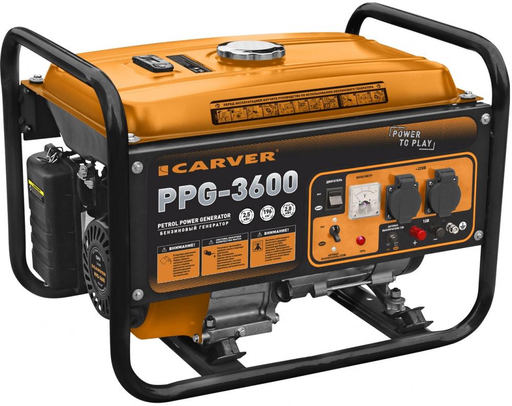 Генератор Carver PPG- 3600 2.8кВт