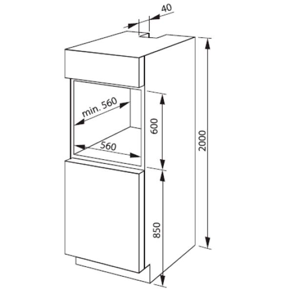 Электрический духовой шкаф Hansa BOEC68219