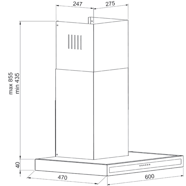Вытяжка 60 см Kuppersberg DDL 660 X