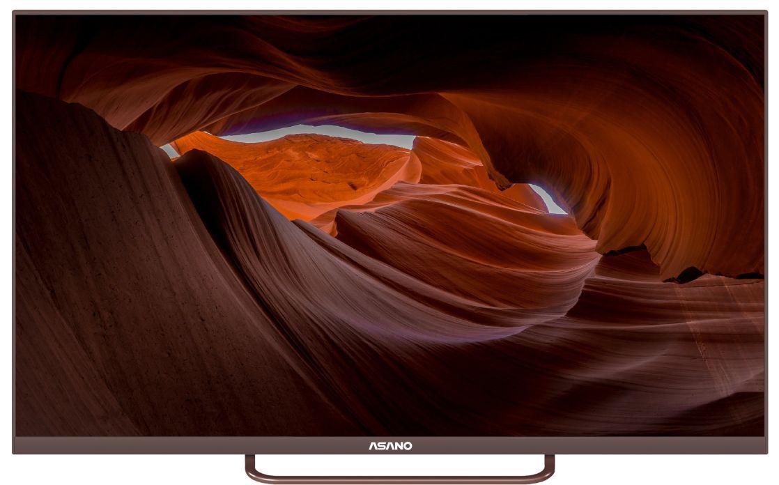 Телевизор  ASANO 43LF1202T-FHD коричневый безрамочный