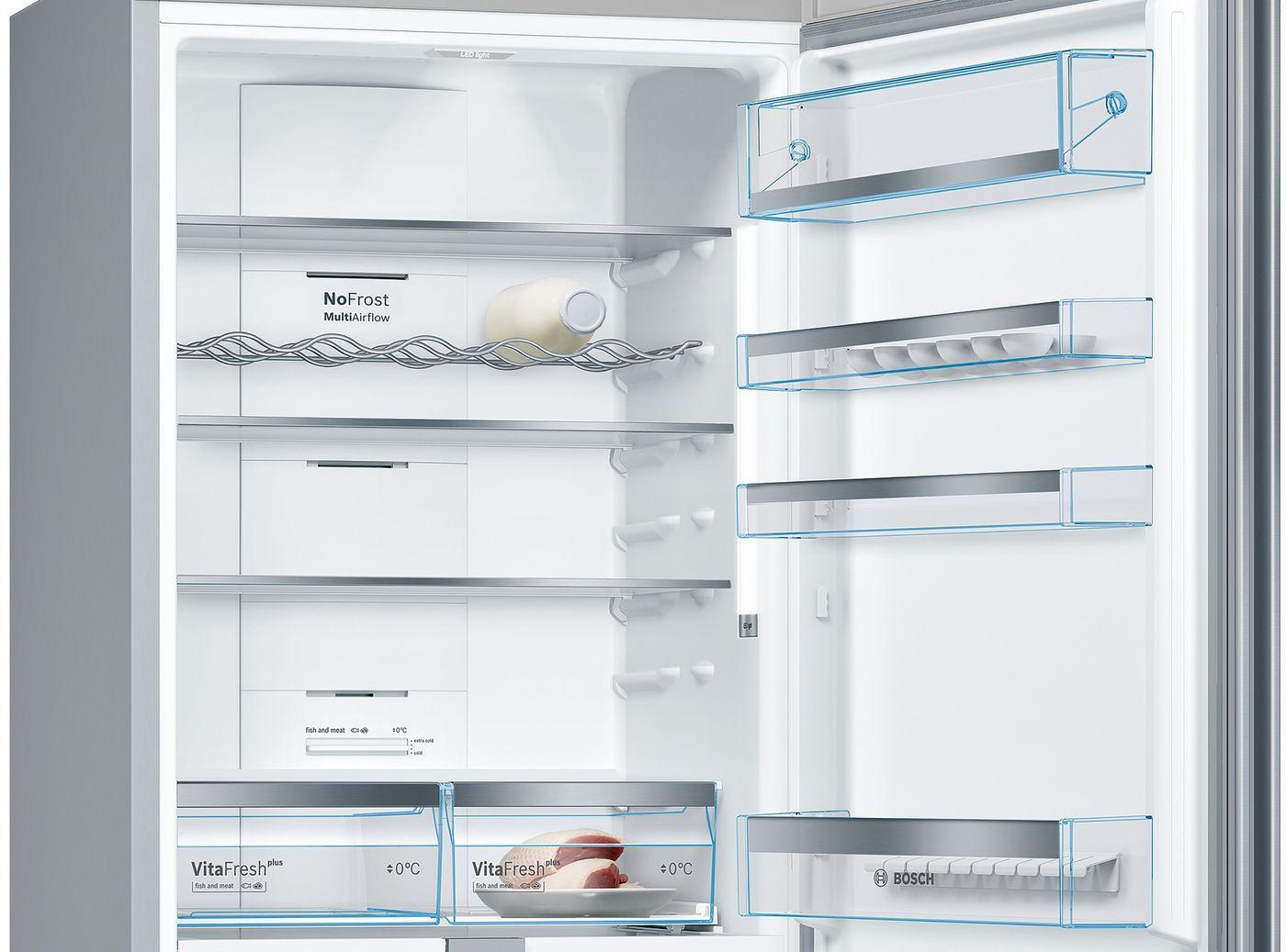 Холодильник Bosch KGN49MI20R нержавеющая сталь (двухкамерный)